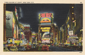 Early 20th century, Times Square postcard.