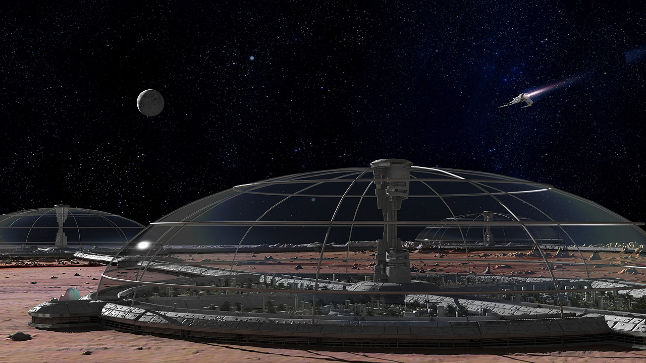 "Could commercialized space travel, lead to future ""space colonies?"""